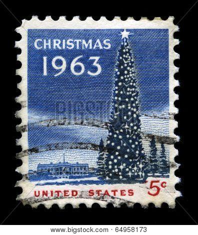 Christmas 1963 Us Postage Stamp