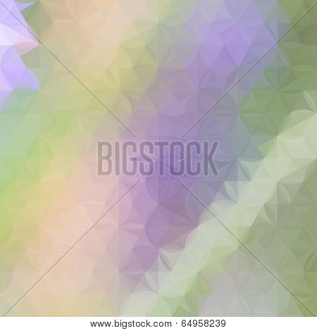 Green And Lavender Pastel Defocused Background With Geometric Ornament
