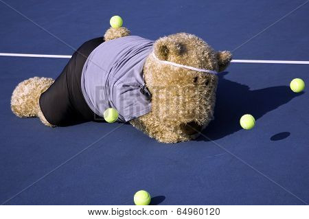 Tennis Player Face Down