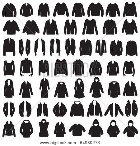 isolated jacket, coat, sweater,blouse and suit