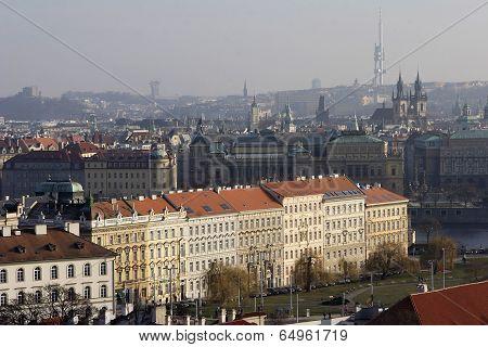 Beautiful View Over Prague