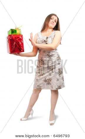 Grumbler Girl With Present Boxes