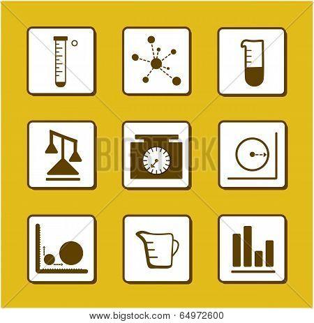 Science-Chemistry-Mathematics Icons