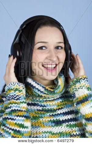 Youth Female Enjoy Music