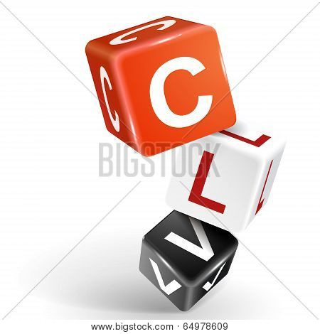 3D Dice Illustration With Word Clv