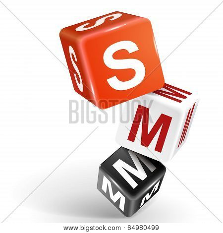 3D Dice Illustration With Word Smm