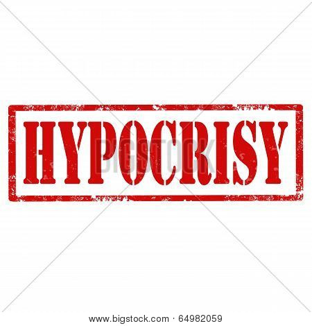 Hipocrisy-stamp