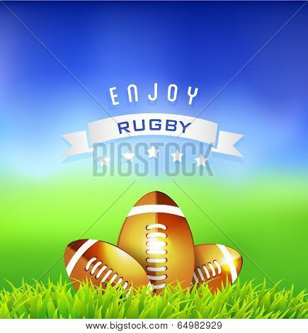 Enjoy  Rugby Time Background