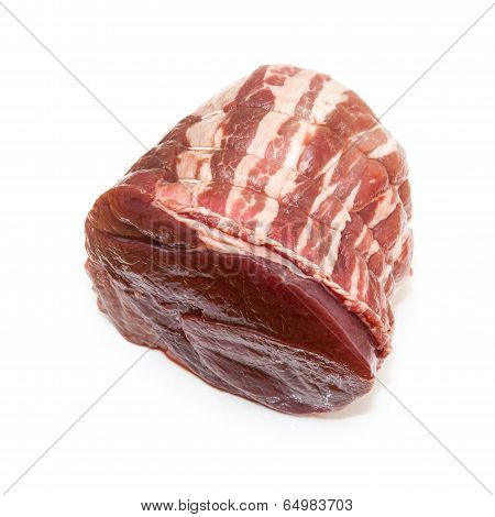 Haunch Of Venison Isolated On A White Background.
