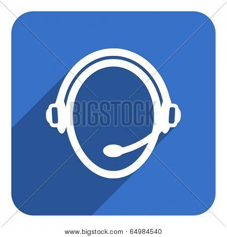 call center flat icon