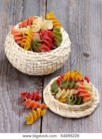 Colorful Rotini Pasta