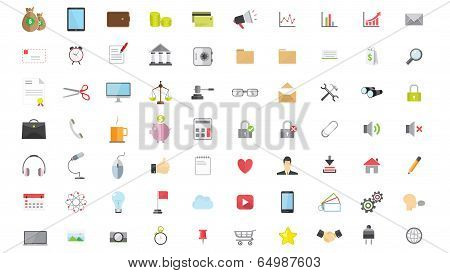 Phone Web Internet Flat Icon