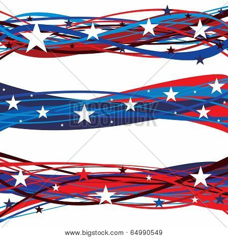 United States Patriotic Flag Day Headers