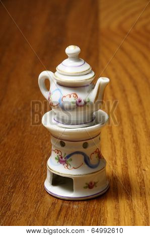 Miniature Of Tea-pot In Porcelain