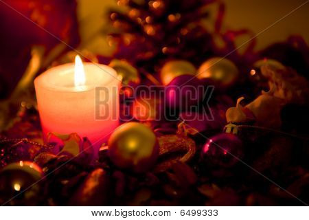 Candle And Decorations