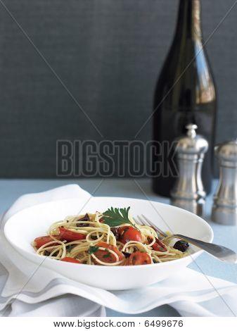 Rustic Sicilian Spaghettini Dish