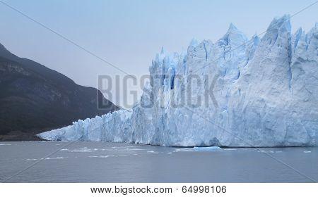 Patagonian Landscape With Glacier. Perito Moreno