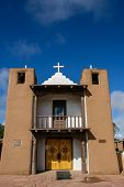 pic of pueblo  - San Geronimo Chapel in Taos Pueblo USA - JPG