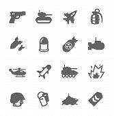 stock photo of abram  - Simple Set of Military Related Vector Icons For Your Design - JPG