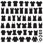 pic of blouse  - vector collection of clothing icons - JPG