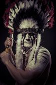 foto of indian chief  - Native - JPG