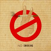 picture of anti-cancer  - Vintage anti smoking poster - JPG