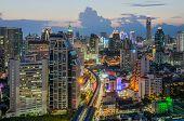 stock photo of cbd  - Bangkok Central Business District  - JPG