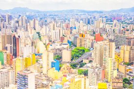 pic of polution  - Aerial view of the city of Sao Paulo - JPG
