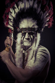 picture of indian chief  - Native - JPG