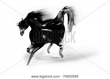Black bronco on white background