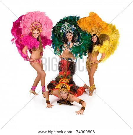 Beautiful carnival dancers, amazing costume