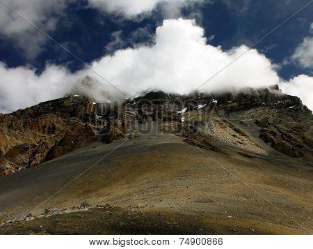 The Himalayan Thorung-la Pass At 5400M