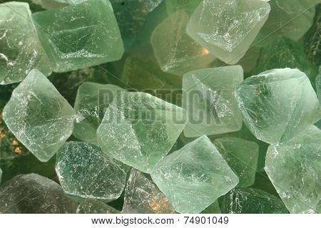 Green Fluorite Mineral Background