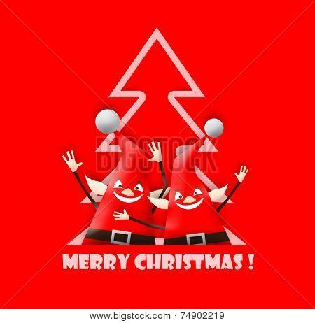 Happy and funny christmas elfs