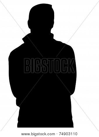 Silhouette Of Unknown Man In Profile