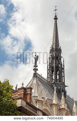 Spire Of La Sainte-chapelle. Gothic Chapel
