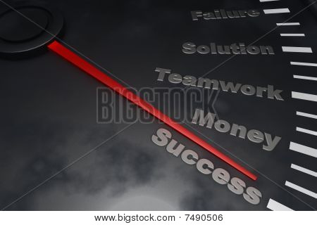 Éxito - velocímetro