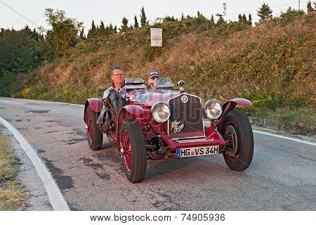 Old Racing Car Alfa Romeo 6C 2500 (1934)