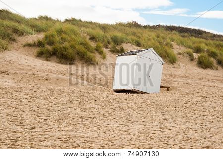 Beach Cabin Overthrown By A Storm