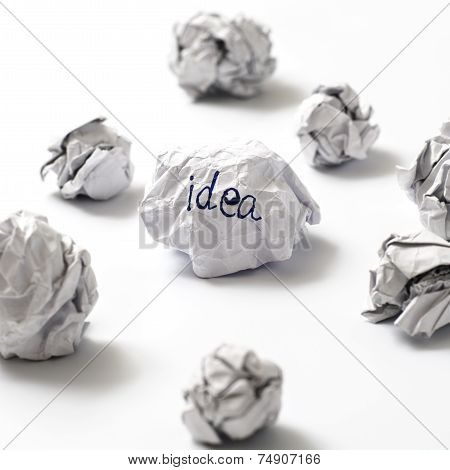 Crumpled Paper Ball