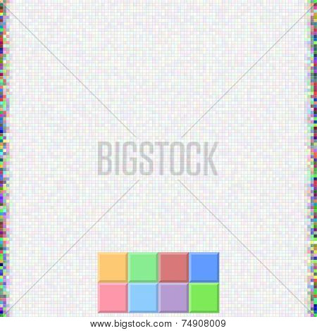 Pixel Color Square Background