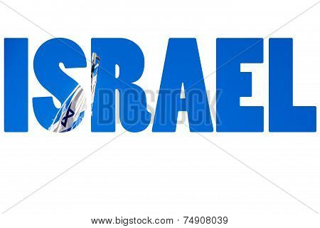 Word Israel Over National Symbols.