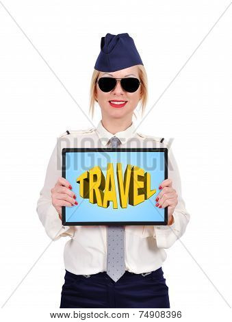 Touch Padwith Travel Symbol