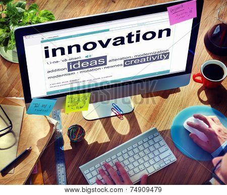 Digital Dictionary Innovation Ideas Creativity Concept