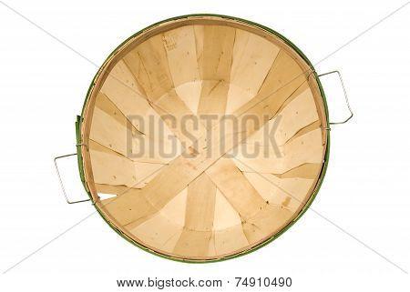 Empty Bushel Basket Shot Overhead