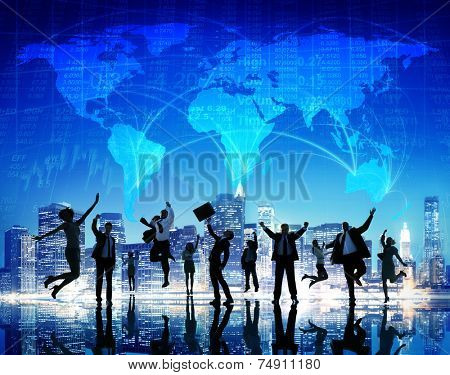 Global Business People Success Cityscape Concept