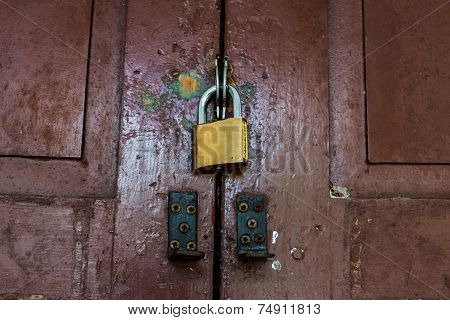 Lock The Old Wood Door