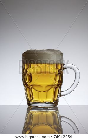 beer mug view with a white background