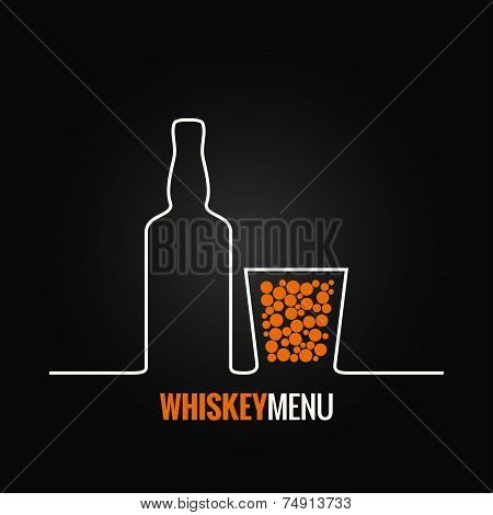 whiskey glass bottle menu background