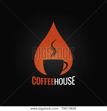 coffee cup drop background